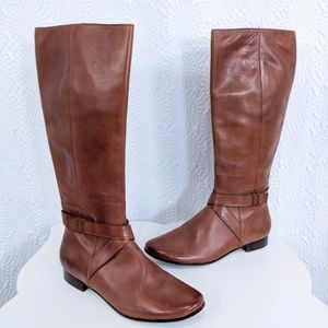 Cole Haan Brown Leather Knee High Riding Boots